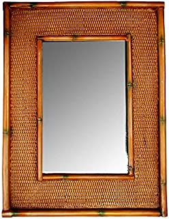 product image for Piazza Pisano Tropical Decor Rattan Bamboo Wall Mirror