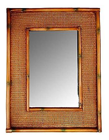 tropical decor rattan bamboo wall mirror - Bamboo Mirror