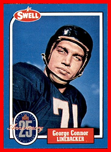 1988 Swell Greats #30 George Connor HOF 1975 CHICAGO BEARS