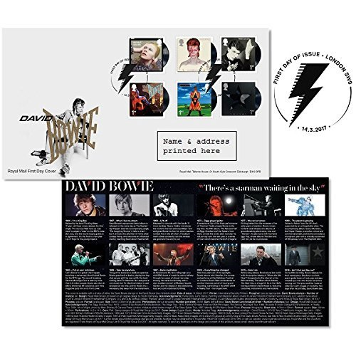 David Bowie London First Day Cover Stamps Issue Date: 14 March 2017