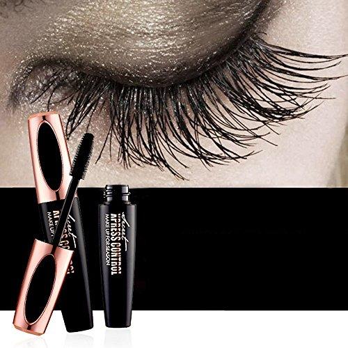 BUSKY Mascara Cream 4D Silk Fiber Eyelash Mascara Long Lasting Makeup Lash Black Crazy-long Style Waterproof, smudge proof