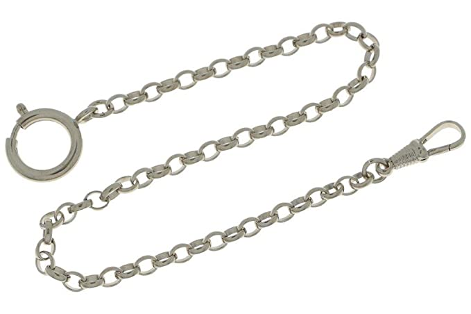 Cadena para reloj de bolsillo, ovalada, 30 cm de largo y 4 mm de