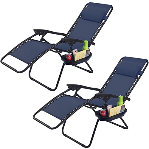 2pc-navy-folding-zero-gravity-reclining-lounge-chairs-beach-patio-w-utility-tray