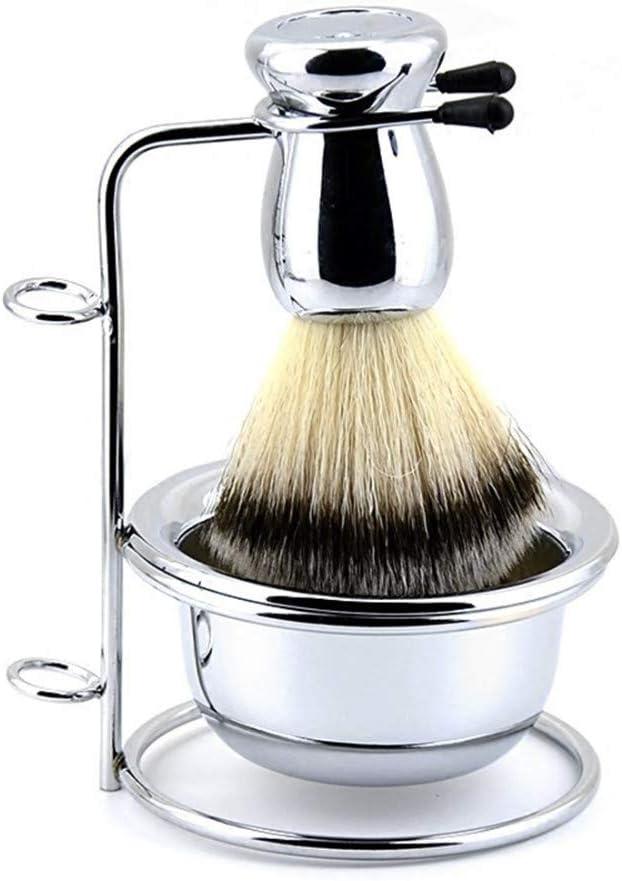 Estante de la maquinilla de afeitar de la vendimia broche de baño titular de cepillo manual estante de la vendimia jabonera afeitadora conjunto de soporte, B: Amazon ...