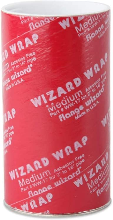 Pipe Dia From 2 To 16 WW-17 Flange Wizard Wrap Size 60 x 3-7//8 in Wraps For Medium Pipes