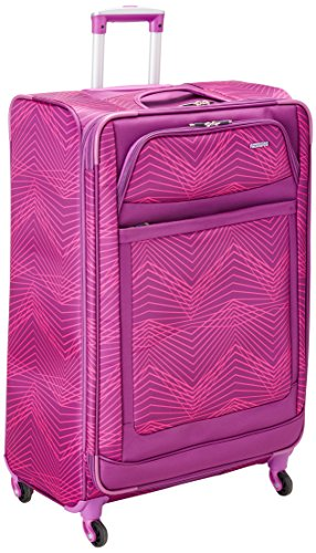 American Tourister iLite Max 29 Spinner Pink/Purple Stripes