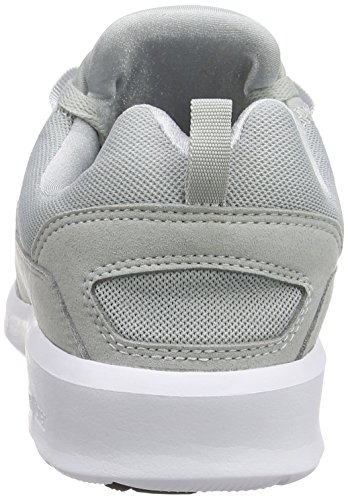 DC Shoes Heathrow M Shoe Bkw - Zapatillas para hombre, color negro Gris - Grau (Light Grey LGR)