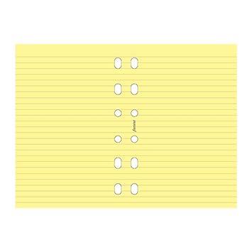 Filofax - Recambio de hojas para archivador (a rayas), color amarillo: Amazon.es: Oficina y papelería