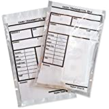 MMF Industries Cash Transmittal Bags, Self-Sealing with Permanent Adhesive, 6 x 9 Inches, Clear, 500 Bags - (236006920)