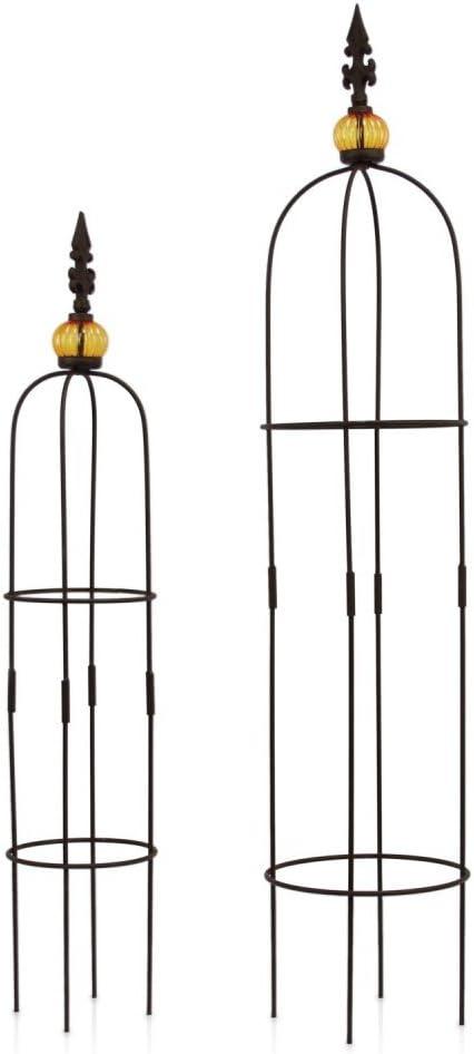 1Plus Set de 2 obeliscos de metal, como tutor, altura de 80, 5 y ...