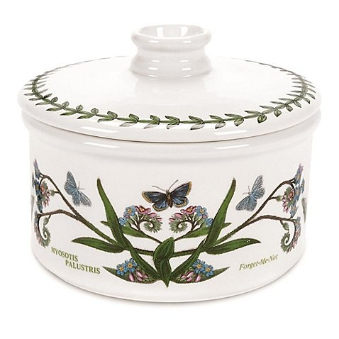 Portmeirion Botanic Garden 5-Inch Covered Round Mini Casserole Dish | Perfect Size for One or Two Servings (1, Casserole Dish)