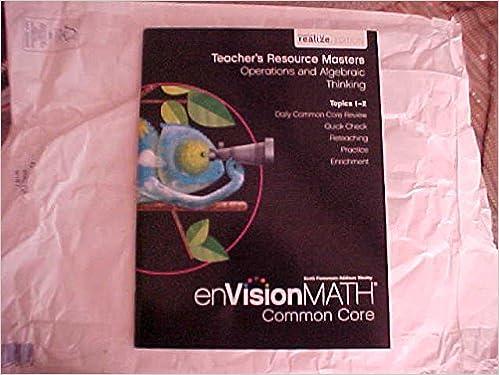 EVision Math Common Core Grade 4 Teacher S Resource Masters