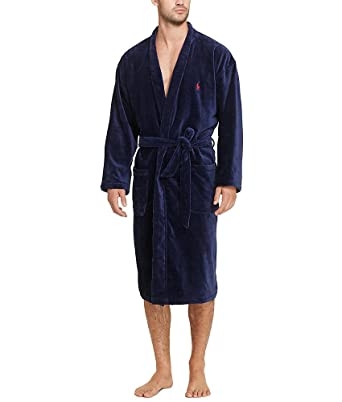 5bbfb8289f4 Polo Ralph Lauren Velour Kimono Robe at Amazon Men s Clothing store