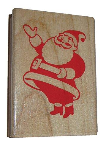 Retro Santa Claus Rubber Stamp Wood Mounted 3