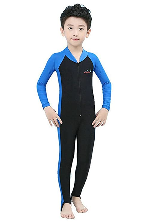 76a00027c4 Amazon.com : Labelar Sun Protection Swimwear Stinger Suit Full Body Swimsuit  for Boys and Girls : Clothing
