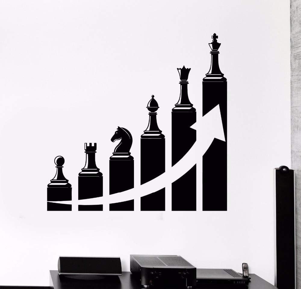 Adhesivo De Pared Arte De Pared Ajedrez Sala De Estar Decoración Vinilo Éxito Carrera Escalera Para Oficina Mural 43X42 Cm: Amazon.es: Bricolaje y herramientas
