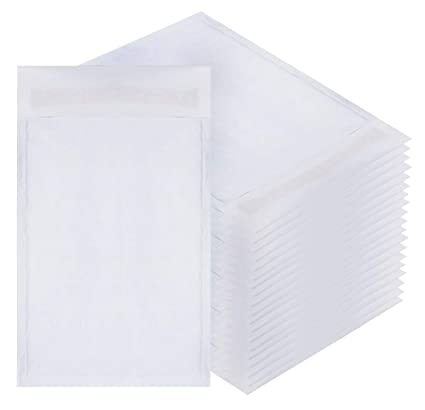White Kraft Bubble Mailers 6x9 Padded Envelopes 6 X 9 By Amiff Pack Of 20 Kraft Paper Cushion Envelopes Exterior Size 6x10 6 X 10 Peel And Seal