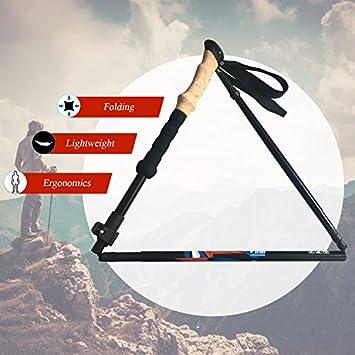 Vihir Collapsible 7075 Aluminum Alloy Hiking Walking Trekking Poles for Men Women
