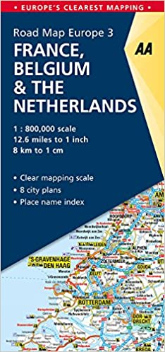 aa road map france belgium netherlands road map europe aa road map europe amazoncouk aa publishing 9780749579159 books