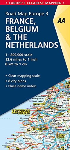 Road Map France, Belgium & The Netherlands (Road Map Europe) (Aa Road Map)