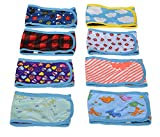 HTKJ Washable Male Dog Belly Band (Pack of 4) with Velcro Reusable Durable Dog Diapers Wrap for Small Medium Pet Dog (S)  [Assorted colours]