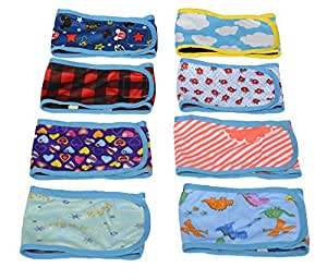 HTKJ Washable Male Dog Belly Band (Pack of 4) with Velcro Reusable Durable Dog Diapers Wrap for Small Medium Pet Dog (XS)