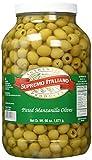 Supremo Italiano Manzanilla Olives Pitted, 128 Ounce