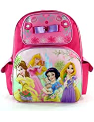 Disney Princess Tangled Aurora Snow White Pink Large Backpack Bag Tote 16 New
