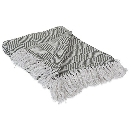 51BiYeRTUWL - DII 100% Cotton Geometric Daimond Throw for Indoor/Outdoor Use Camping Bbq's Beaches Everyday Blanket