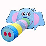 Gbell Kids Large Elephant Long Nose Tunnel Tent House, Large Polyester Indoor & Outdoor Boys Girls Tent Home, Garden, Beach, Lawn, Ball Pool-100×100×100CM, Nose Tunnel -180×48×48CM (Multicolor)