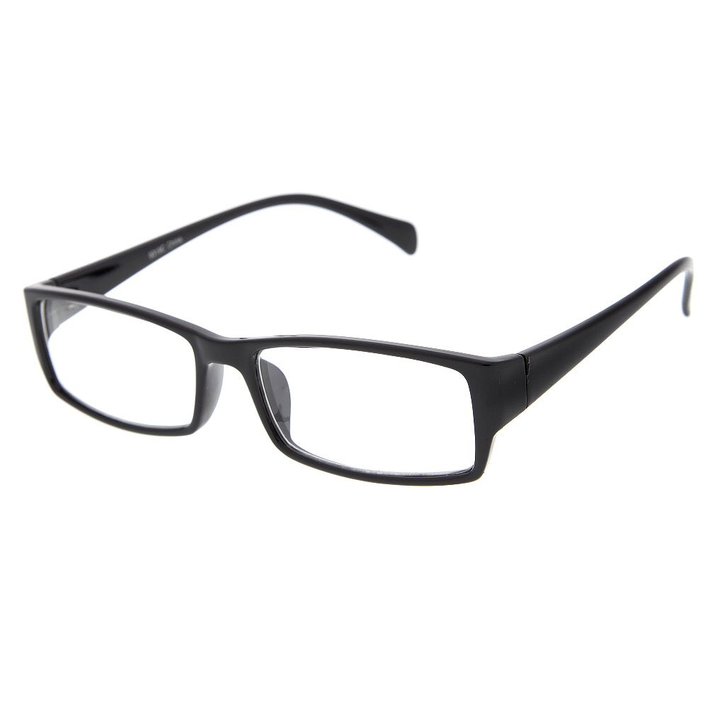 grinderPUNCH Fake Plastic Rim Clear Lens Plano Reading Glasses for Men and Women 9319C-2PK-GP