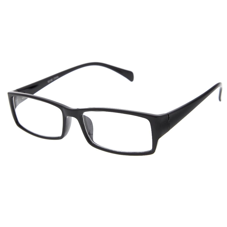 grinderPUNCH Fake Plastic Rim Clear Lens Plano Reading Glasses for Men and Women