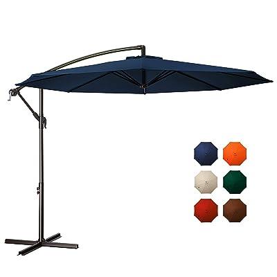 MEWAY 10ft Outdoor Umbrella Backyard Umbrella Deck Umbrella Cantilever Patio Umbrella