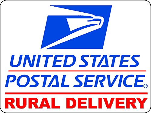 U.S. Mail Rural Delivery Magnetic Car Sign - 9x12 (Round Magnetic Signs)