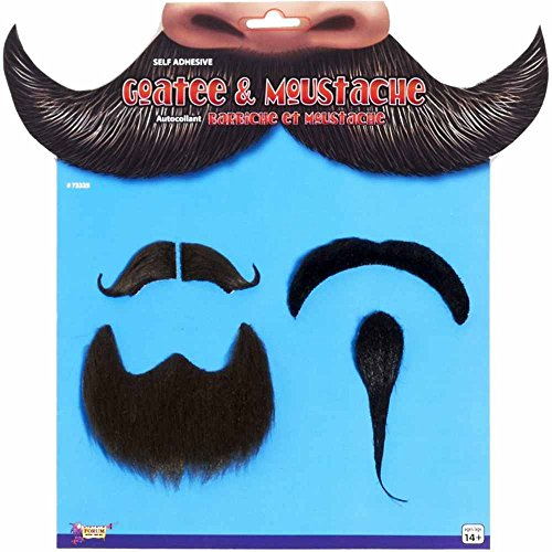 Character Goatee Beard & Mustache Set (Beard With Goatee)
