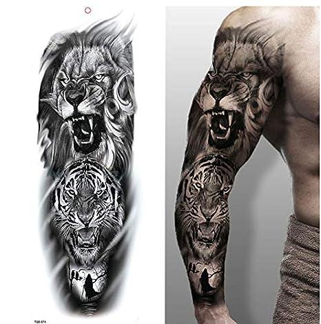 yyyDL tatuajes temporales Pierna completa del brazo Tatuajes ...