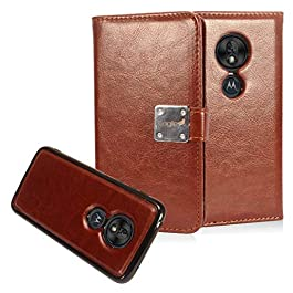 Compatible with T-Mobile REVVLRY, Moto G7 Play, G7 Optimo XT1952/DL – Detachable Magnetic Flip Wallet Phone Case – MW2…
