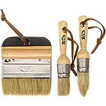 1st Place Ultra Chalk Paint & Wax 3 Piece Natural Bristle Brush Set - Annie Sloan Quality