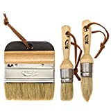 #7: 1st Place Ultra Chalk Paint & Wax Natural Bristle Brush Set - Annie Sloan Quality (3 Brushes)