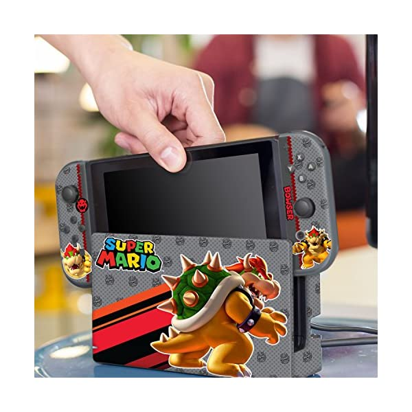 "Controller Gear Nintendo Switch Skin & Screen Protector Set, Officially Licensed By Nintendo - Super Mario Evergreen ""Bowser"" - Nintendo Switch 6"