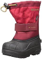Columbia Baby Powderbug Plus Ii Snow Boot, Mountain Red, Maple, 7 M Us Toddler