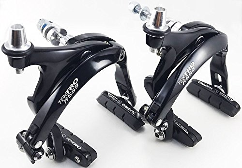 - Tektro R559 Road Brake Caliper Long arms 55~73mm,(Nutted hex nut) Traditional nut Front/Rear/Set/Silver&Black (Black, Set Front+Rear)