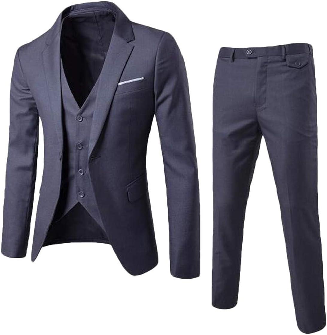 KLJR Men Casual Wedding Blazer Business Suits Sets Outfits
