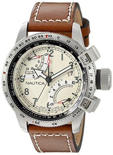 Nautica Men's NAD24504G BFC Flyback Chrono Analog Display Analog Quartz Brown Watch