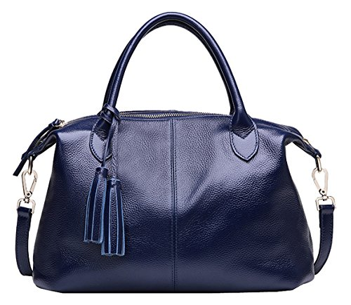 SAIERLONG Ladies Designer Womens Royal Blue Fashion Soft Leather Handbags Shoulder ()