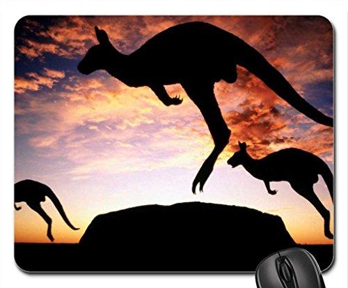 Kangaroo's at sunset Uluru National Park NT Australia Mouse Pad, Mousepad (Kangaroos Mouse Pad)