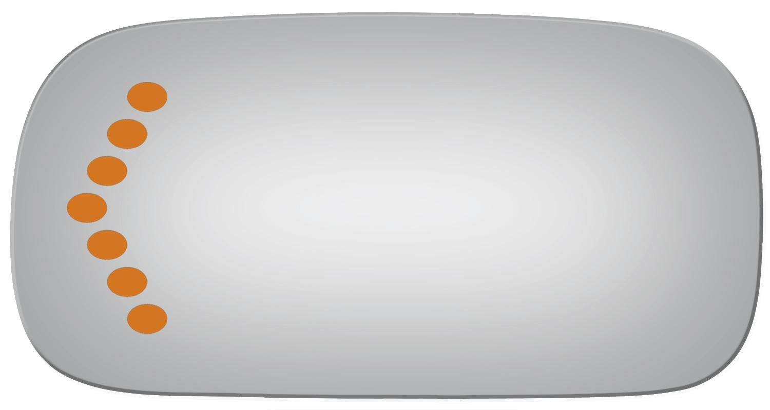 Flat Driver with Signal Side Mirror Replacement Glass for 2006-2008 CADILLAC DTS Burco