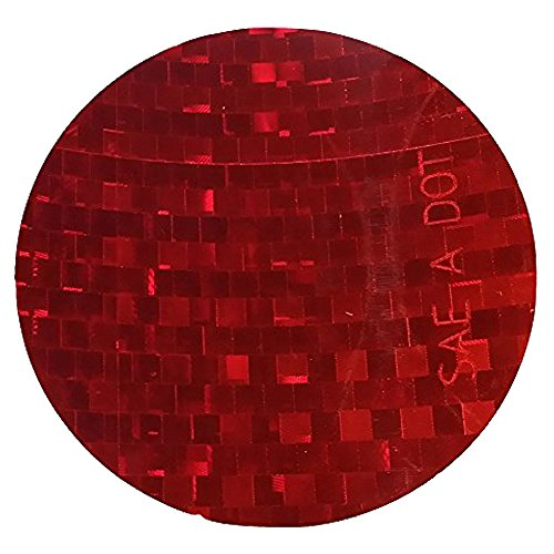 ifloortape DOT-SAE Red Dot 3 Inch Round High Visibility Reflective Stick On Reflector (4 pack)