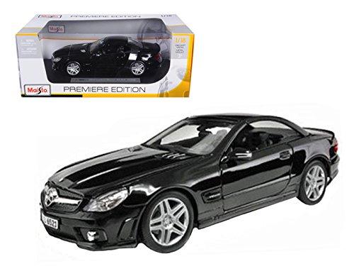 Mercedes Benz SL65 AMG, Black - Maisto Premiere 36193 - 1/18 Scale Diecast Model Toy - Mercedes Amg Sl65 Benz