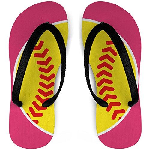 Softball Flip Flops Softball Split Rose / Jaune